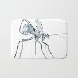 Mosquito, Watercolor Bath Mat