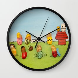 Real Peanuts Wall Clock
