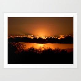 California Sunsets Art Print