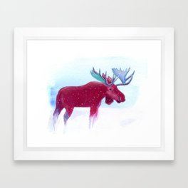 Frank the Pink Moose Framed Art Print