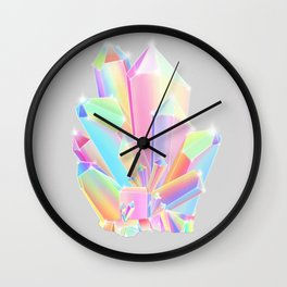 Crystal Cluster Wall Clock