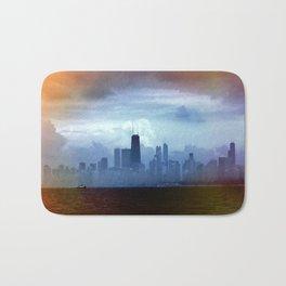 Foggy Skyline #22 Bath Mat