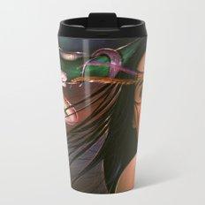 Green Cristals Metal Travel Mug