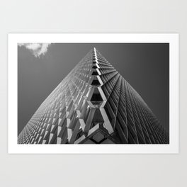 Abstract City Architecture Pittsburgh Black and White Art Print