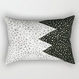 Day and Night (pen on paper) Rectangular Pillow