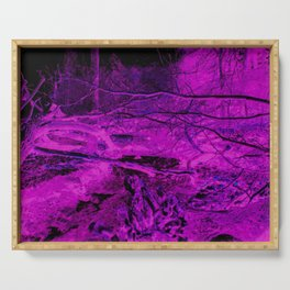 Pink Forest River Serving Tray
