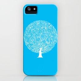 Blue Tree iPhone Case