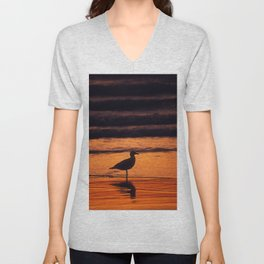 Gull at Rockaway Beach Unisex V-Neck