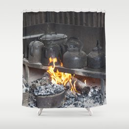 Camp oven Shower Curtain