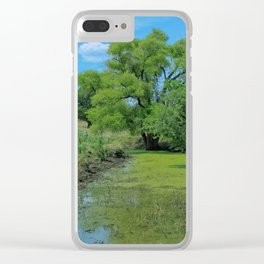 Kansas Country Pasture with  Tree's Clear iPhone Case