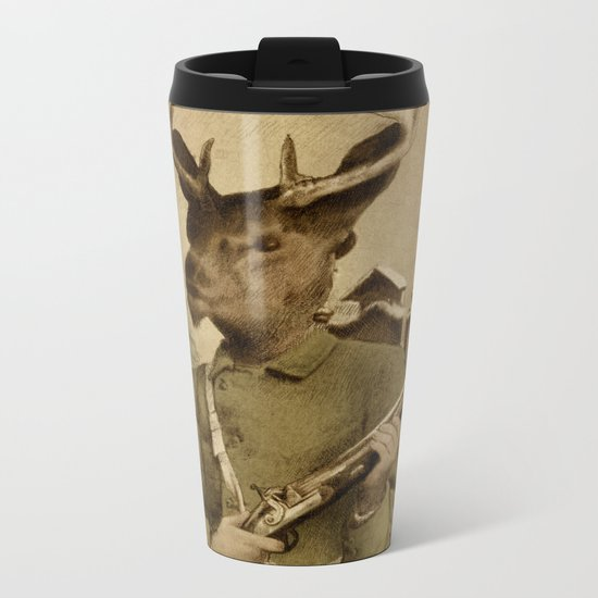 The Deer Hunter  Metal Travel Mug