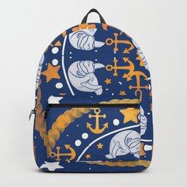 A Circle of Manatees Backpack