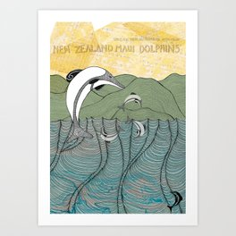 Whats happening to our dolphins? Art Print