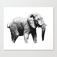 african Canvas Prints featuring African Elephant by T.E.Perry