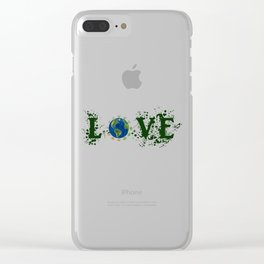 Earth Day Love Mother Earth Clear iPhone Case