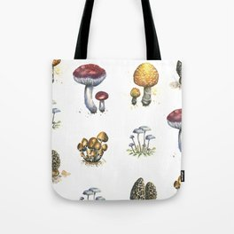 Mushroom Watercolor Pattern Tote Bag