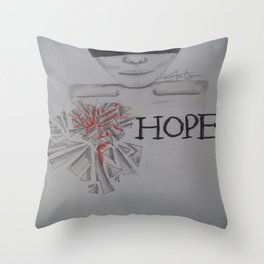 Shatter Me With Hope. Throw Pillow