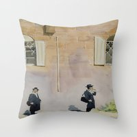 jewish Throw Pillows featuring Jewish Quarter by Andrey Esionov