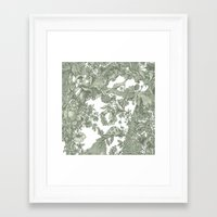 leaf Framed Art Prints featuring Leaf  by Maethawee Chiraphong