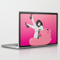 kirby Laptop & iPad Skins featuring Geekette sur Kirby by Lily's Factory