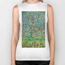 "Gustav Klimt ""Apple tree"" Biker Tank"