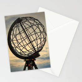 Crescent Moon through the Nordkapp Globe Stationery Cards