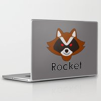 rocket raccoon Laptop & iPad Skins featuring Rocket by Pop Culture Fanatics