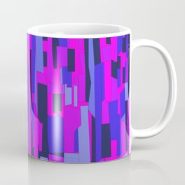 Icy Blue and Purple Crackle Glass Pattern Coffee Mug