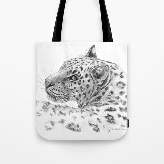 Leopard - Glance back Tote Bag