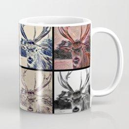 Stag Head Pop Art - Abstract, deer design Coffee Mug