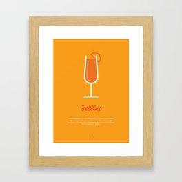 Bellini Cocktail Recipe Art Print Framed Art Print