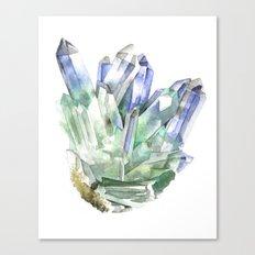 Fuschite with Quartz Cluster Canvas Print