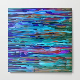 Rippling River Currents Metal Print