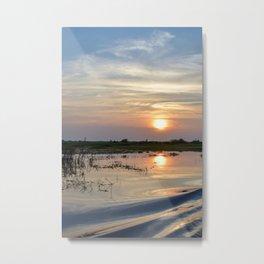 Tonle Sap Sunset Metal Print