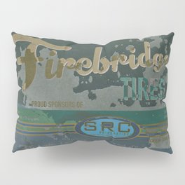 SRC Preparations Firebridge Tires Vintage Poster No1 Pillow Sham