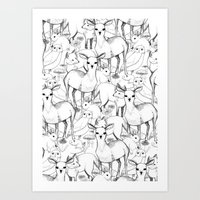 woodland Art Prints featuring Woodland by Lydia Meiying