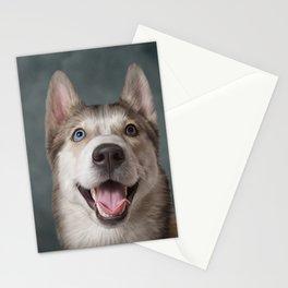 Drawing Husky dog Stationery Cards