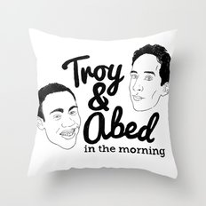 Troy & Abed In The Morning! - Community Throw Pillow