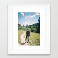 hiking Framed Art Prints featuring Hiking by iamthans