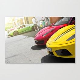 Ferrari Lamborghini 458 Scuderia Gallardo California Car Cars Canvas Print