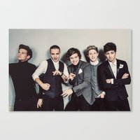one direction Canvas Prints featuring One Direction by Diana T