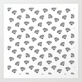 Black and white version of diamond Art Print