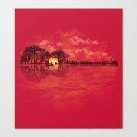 sunset Canvas Prints featuring Musical Sunset by dan elijah g. fajardo