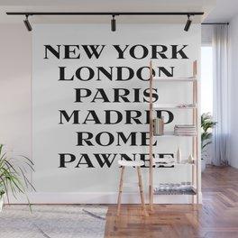 cities marfa fashion print Wall Mural