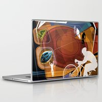 cycling Laptop & iPad Skins featuring Cycling by Robin Curtiss