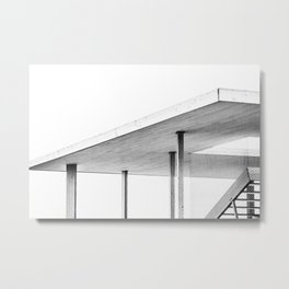 Architectural Study in White Metal Print