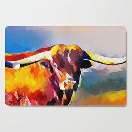 Texas Longhorn 4 Cutting Board
