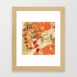 Itches and Stitches Framed Art Print