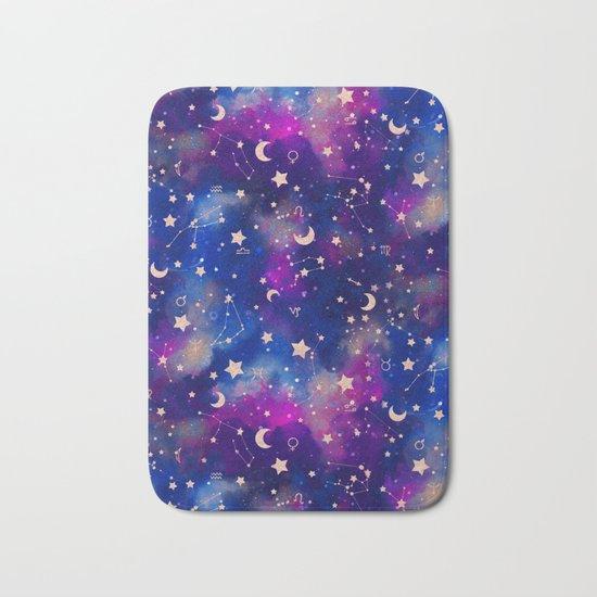 Zodiac - Watercolor Dark Bath Mat