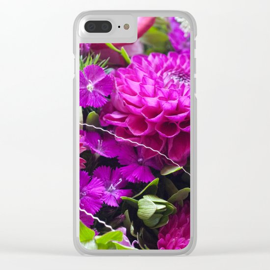 Pink flower bouquet #1 #decor #art #society6 Clear iPhone Case